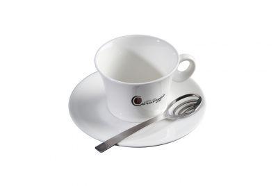 Confezione regalo tazze da cappuccino e cucchiai